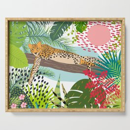 Leopard Art, Colorful, African Animals Art Serving Tray