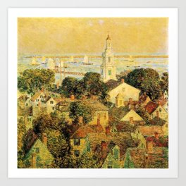 Classical Masterpiece 'Provincetown' by Frederick Childe Hassam Art Print