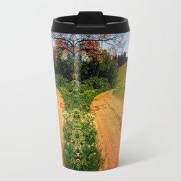 Hiking trail through springtime nature Travel Mug