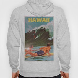 1964 Vintage Hawaii Surfing Poster by Chas Allen Hoody