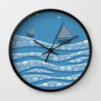 boats Wall Clocks featuring Boats by Matt Andrews