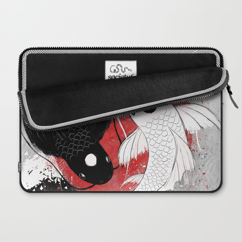 c8781a5618bb Koi fish - Yin Yang Laptop Sleeve