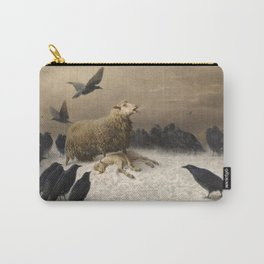 Anguish - August Friedrich Albrecht Schenck - Ravens and Sheep Carry-All Pouch