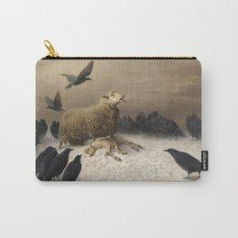Anguish - August Friedrich Albrecht Schenck - Ravens and Sheep Carry-All Pouch