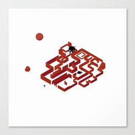You Do Not Enter the Maze, the Maze Enters You Canvas Print