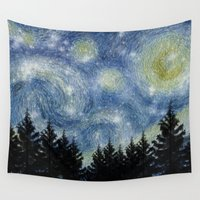 starry night Wall Tapestries featuring Starry Night by Astrablink7