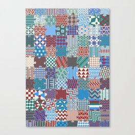 Pattern Patchwork Puzzle Canvas Print