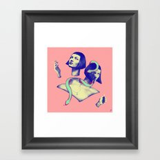 slit-her Framed Art Print