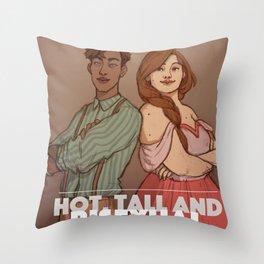 Hot, tall and bi Throw Pillow