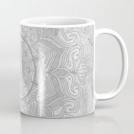 gray splash mandala swirl boho Coffee Mug