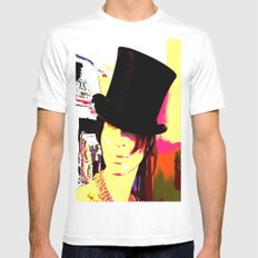 Cotton Club Topper MEDIUM Mens Fitted Tee White