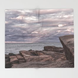 Around Sunset at Halibut Point Throw Blanket