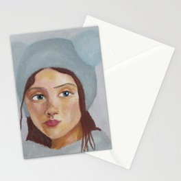 Girl in the Hat by Lu Stationery Cards