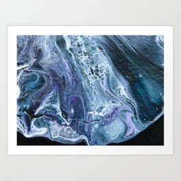 Waves - Original Abstract Acrylic Pour Painting Art Art Print