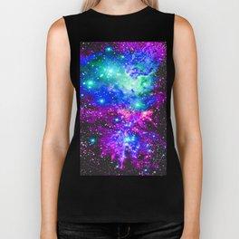 Fox Fur Nebula Galaxy Pink Purple Blue Biker Tank