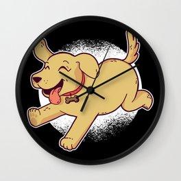 happy dog Wall Clock