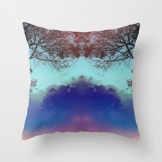 Santa Barbara - The fog rolled in and my mind rolled out. Throw Pillow