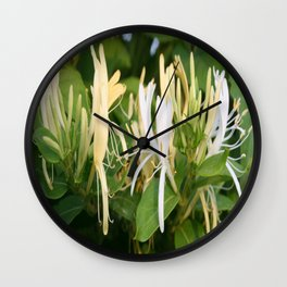 Closeup shot of Lonicera European Honeysuckle Flower Wall Clock