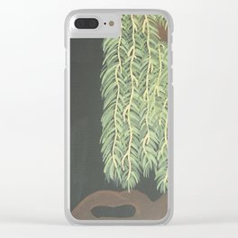Moonlit Weeping Willow Clear iPhone Case
