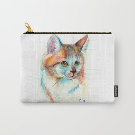 Bicolor cat portrait Carry-All Pouch