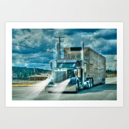 The Cattle Truck Art Print