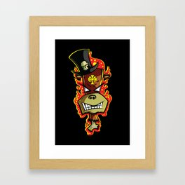 Trick Monkey - Voodoo Witch Doctor Framed Art Print