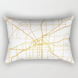 FORT WORTH CITY STREET MAP ART Rectangular Pillow