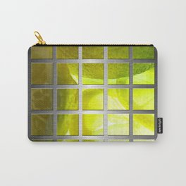 Limes & Square Grid Collage Metallic Carry-All Pouch