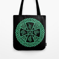 celtic Tote Bags featuring Celtic Nature by Astrablink7