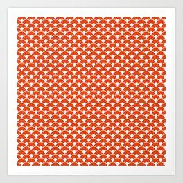 Dragon Scales Tangerine  Art Print