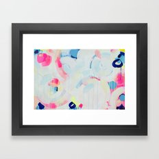 Instant Crush - Abstract painting by Jen Sievers Framed Art Print