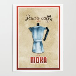 Cafe Poster: Coffee Break with Moka Poster