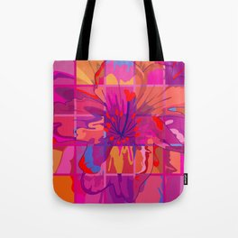 Abstract Flower in Cubes Tote Bag