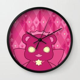 Monochromatic Kuma Ginko Wall Clock