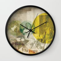 bread Wall Clocks featuring Bread. by Sarah Duet