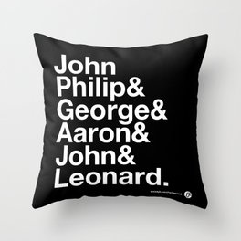 American Composers Throw Pillow