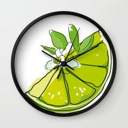 Lime and mojito Wall Clock