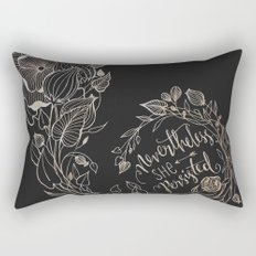 Nevertheless She Persisted Gold Rectangular Pillow