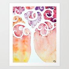 Swirly Girly Tree Art Print