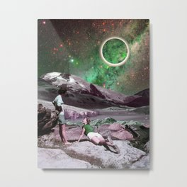 A couple in space Metal Print