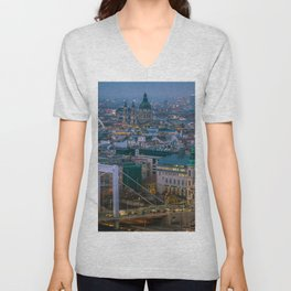Evening view Unisex V-Neck