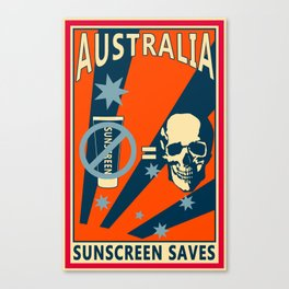 Sunscreen Canvas Print