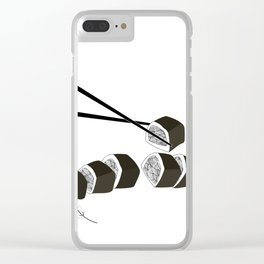 mermaid sushi Clear iPhone Case