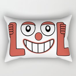 Laughing Out Loud Illustration Rectangular Pillow