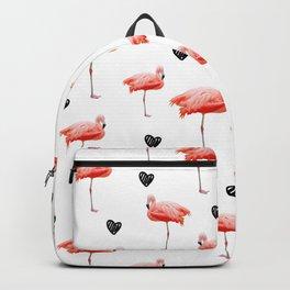 flamingo pattern Backpack