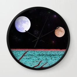 Under An Alien Moon Wall Clock
