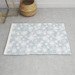 Snowflakes . White Lacy snowflakes on a light grey Rug