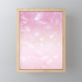 Touching Pink Coral Abstract Painting #1 #ink #decor #art #society6 Framed Mini Art Print