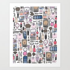Cutey Beauty Kawaii Art Print