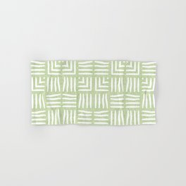 Velvety Tribal Weave Reverse in Lime Green Hand & Bath Towel